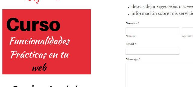 Curso Funcionalidades Prácticas en tu web #3 Formulario de Contacto