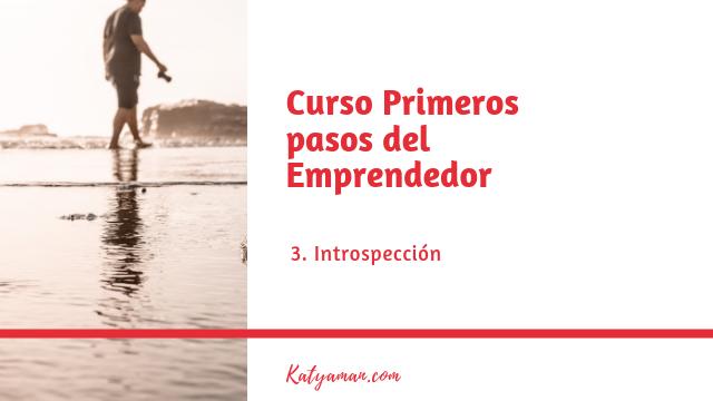 Curso Primeros pasos del Emprendedor N3 Introspección
